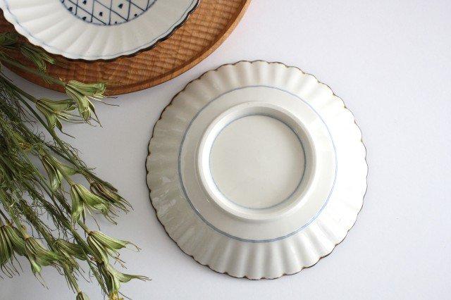 輪花格子紋 6寸鉢 陶器 村田亜希 益子焼 画像3