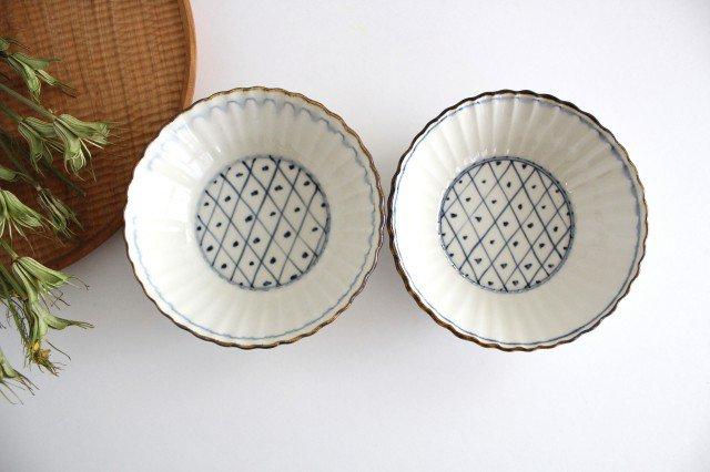 輪花格子紋 5寸鉢 陶器 村田亜希 益子焼 画像5