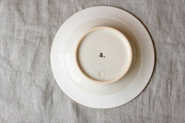 波佐見焼 ORIME ヘリンボーン 4寸丸皿 ホワイト 陶器 画像3