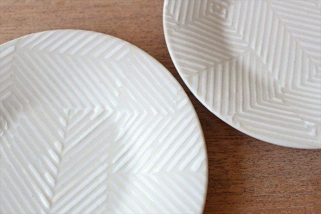 波佐見焼 ORIME ヘリンボーン 4寸丸皿 ホワイト 陶器 画像6