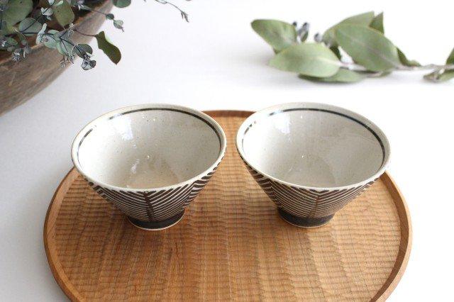 波佐見焼 ORIME ヘリンボーン 茶碗 ブラウン 陶器 画像2