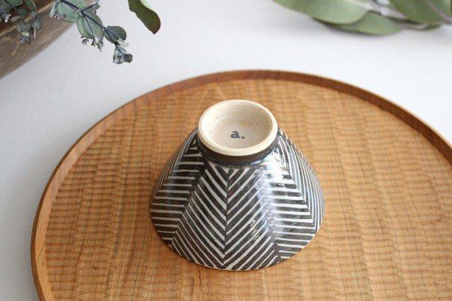波佐見焼 ORIME ヘリンボーン 茶碗 ブラウン 陶器 画像3