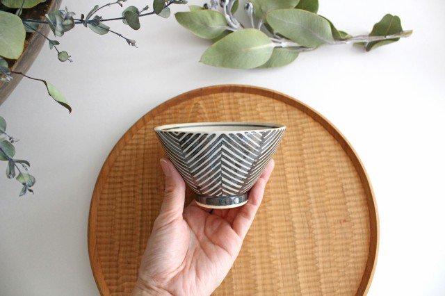 波佐見焼 ORIME ヘリンボーン 茶碗 ブラウン 陶器 画像4