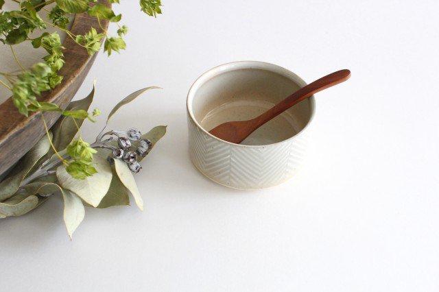 波佐見焼 ORIME ヘリンボーン ボウル ホワイト 陶器