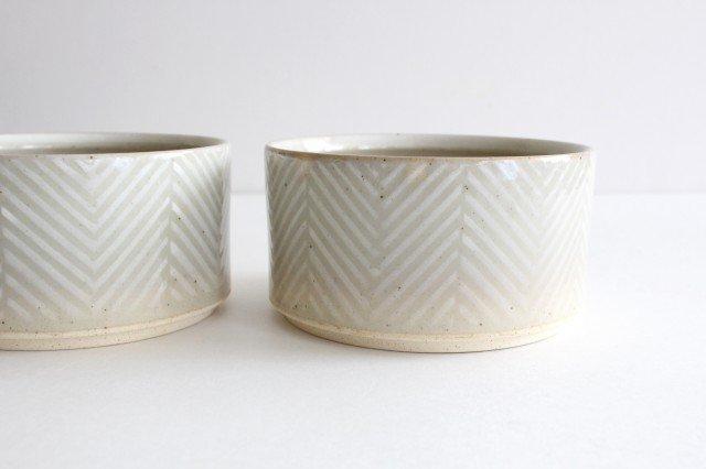 波佐見焼 ORIME ヘリンボーン ボウル ホワイト 陶器 画像2