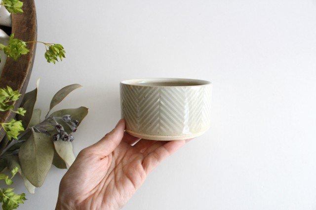 波佐見焼 ORIME ヘリンボーン ボウル ホワイト 陶器 画像6
