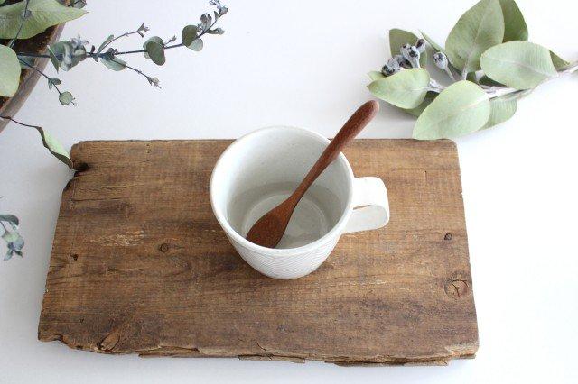 波佐見焼 ORIME ヘリンボーン マグカップ ホワイト 陶器 画像2
