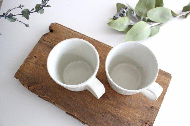 波佐見焼 ORIME ヘリンボーン マグカップ ホワイト 陶器 画像6
