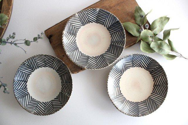 波佐見焼 ORIME ヘリンボーン 6寸丸皿 ブラウン 陶器  画像4