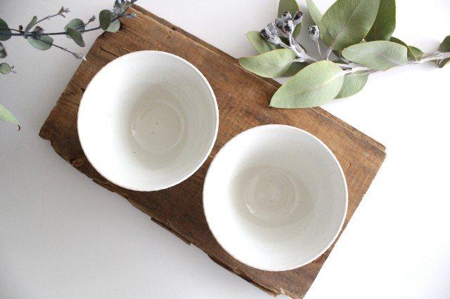波佐見焼 ORIME ヘリンボーン 茶碗 ホワイト 陶器 画像2