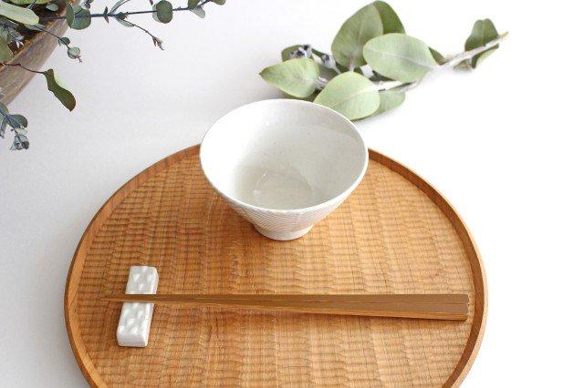 波佐見焼 ORIME ヘリンボーン 茶碗 ホワイト 陶器 画像3