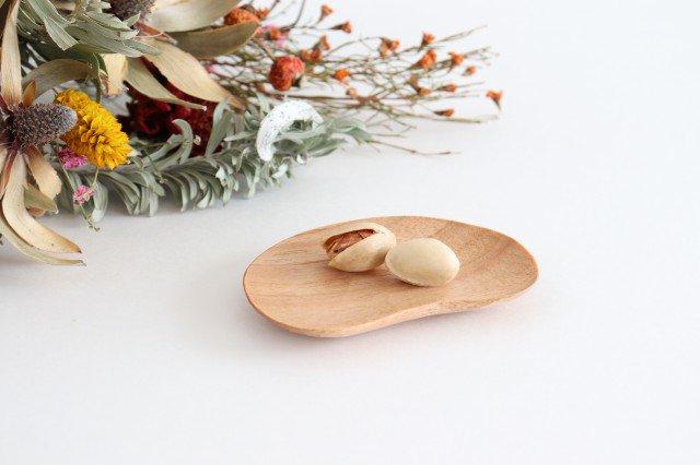 小さなおまめ皿 胡桃 ivory+安藤由紀