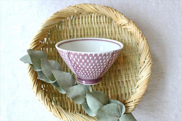 波佐見焼 ORIME 鹿の子 茶碗 マロン 磁器