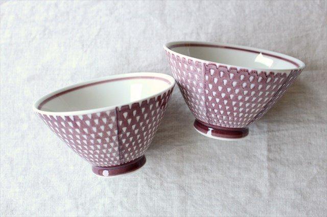 波佐見焼 ORIME 鹿の子 茶碗 マロン 磁器 画像4