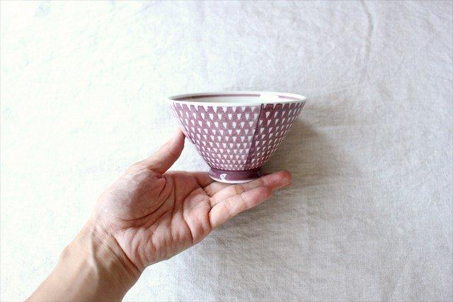 波佐見焼 ORIME 鹿の子 茶碗 マロン 磁器 画像5