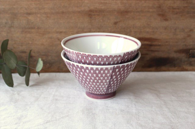 波佐見焼 ORIME 鹿の子 茶碗 マロン 磁器 画像6