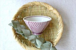 波佐見焼 ORIME 鹿の子 茶碗 マロン 磁器商品画像