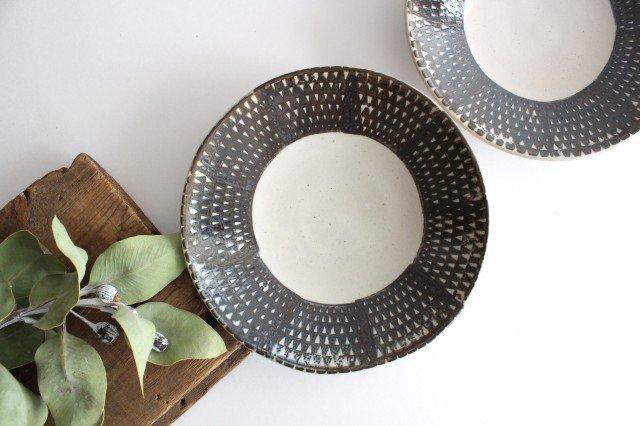 波佐見焼 ORIME 鹿の子 6寸丸皿 ブラウン 陶器