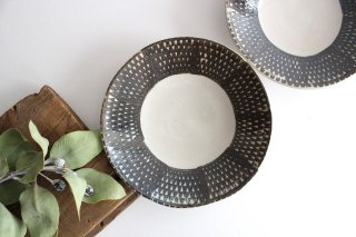 波佐見焼 ORIME 鹿の子 6寸丸皿 ブラウン 【A】 陶器商品画像