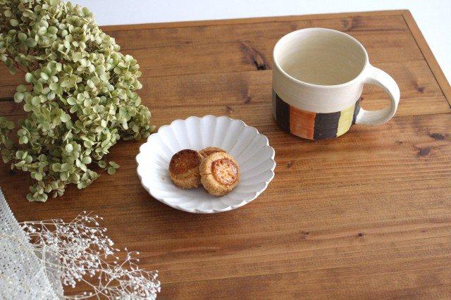 美濃焼 モチーフ 4寸輪花鉢 白 陶器