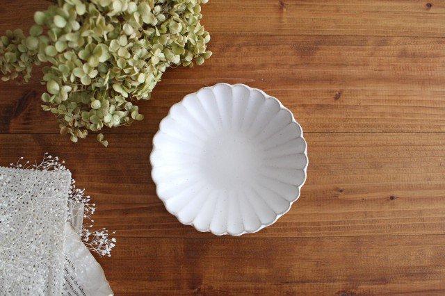 美濃焼 モチーフ 4寸輪花鉢 白 陶器 画像2