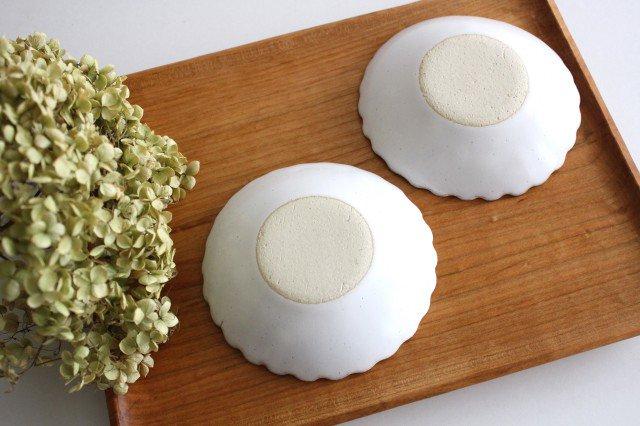 美濃焼 モチーフ 4寸輪花鉢 白 陶器 画像3