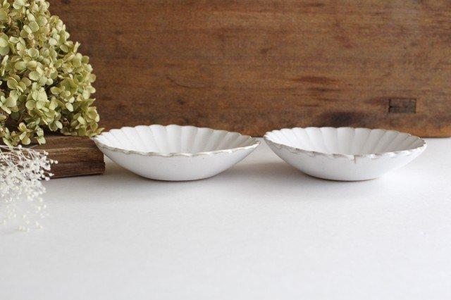 美濃焼 モチーフ 4寸輪花鉢 白 陶器 画像4
