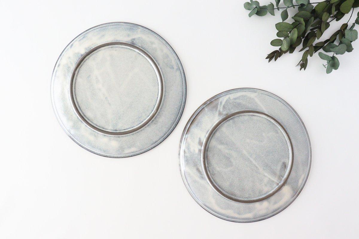 美濃焼 削ぎ目大皿 グレー 陶器 画像3
