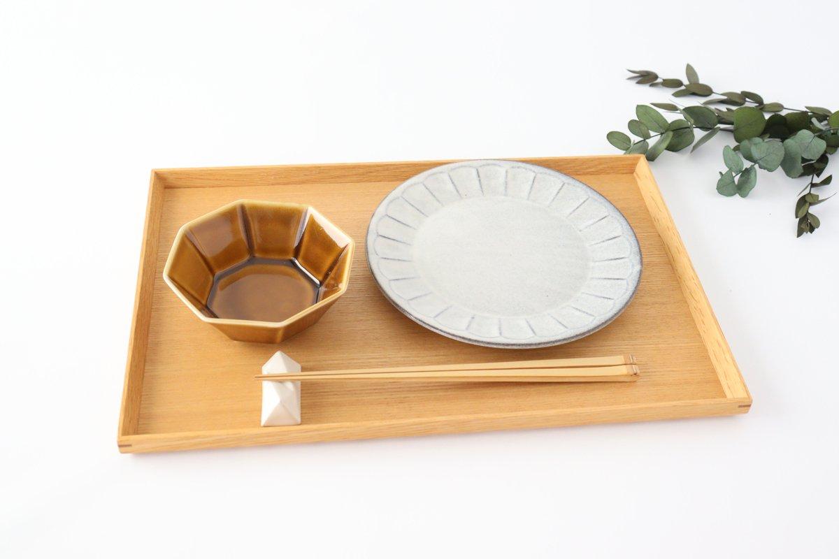 美濃焼 削ぎ目取皿 グレー 陶器 画像2