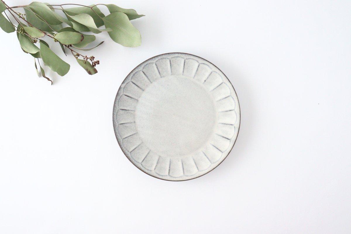 美濃焼 削ぎ目取皿 グレー 陶器 画像3