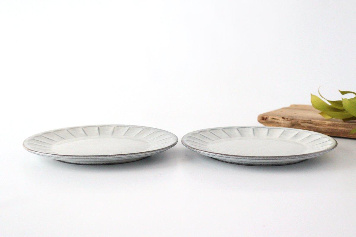 美濃焼 削ぎ目取皿 グレー 陶器 画像5