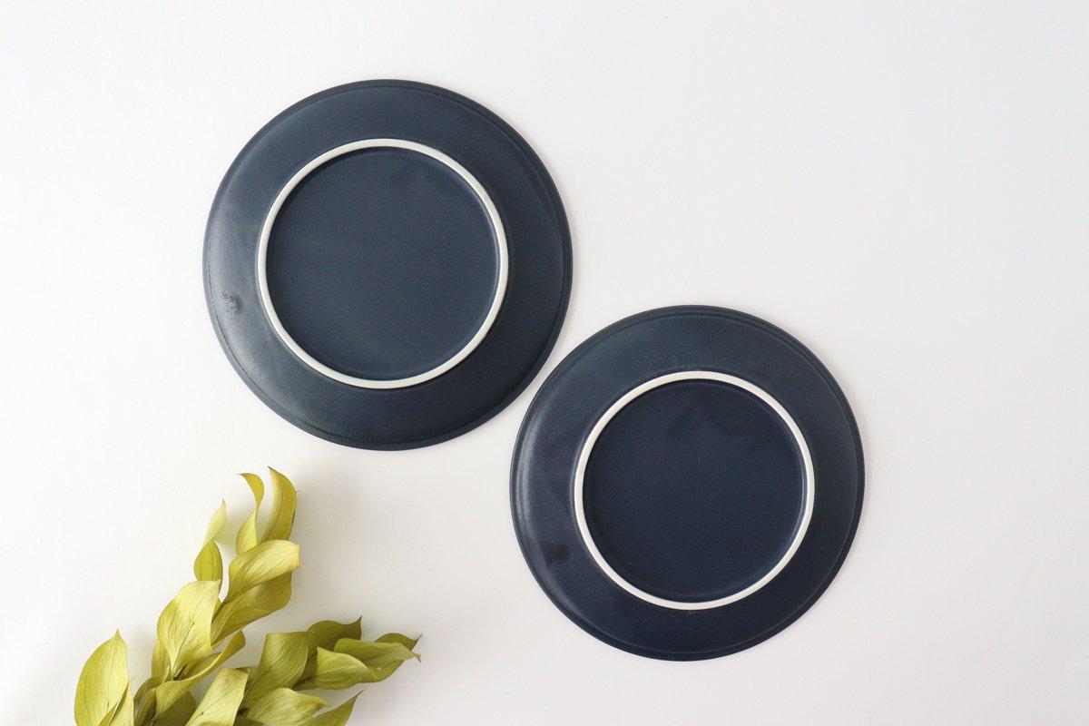 美濃焼 削ぎ目取皿 濃紺 陶器 画像3