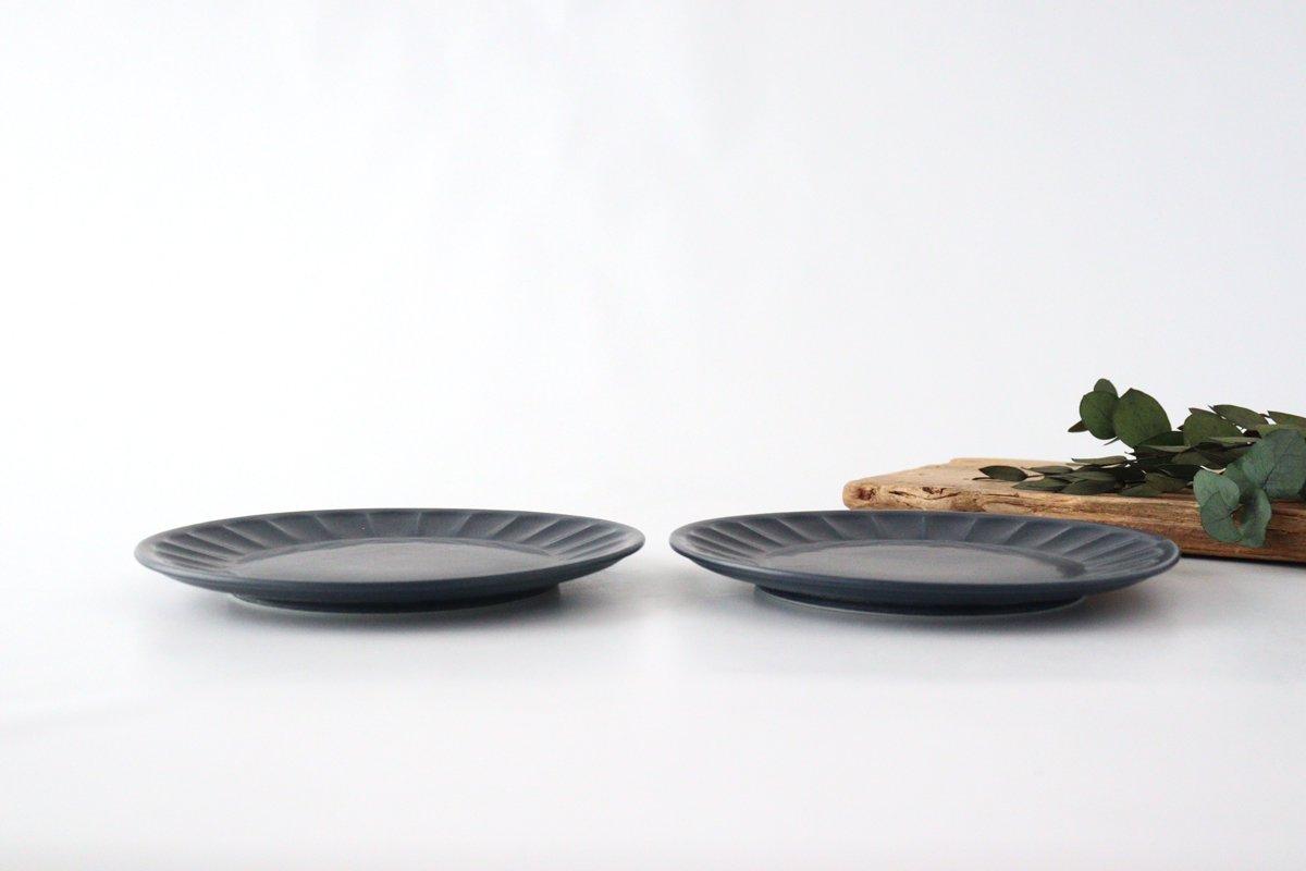 美濃焼 削ぎ目取皿 濃紺 陶器 画像4