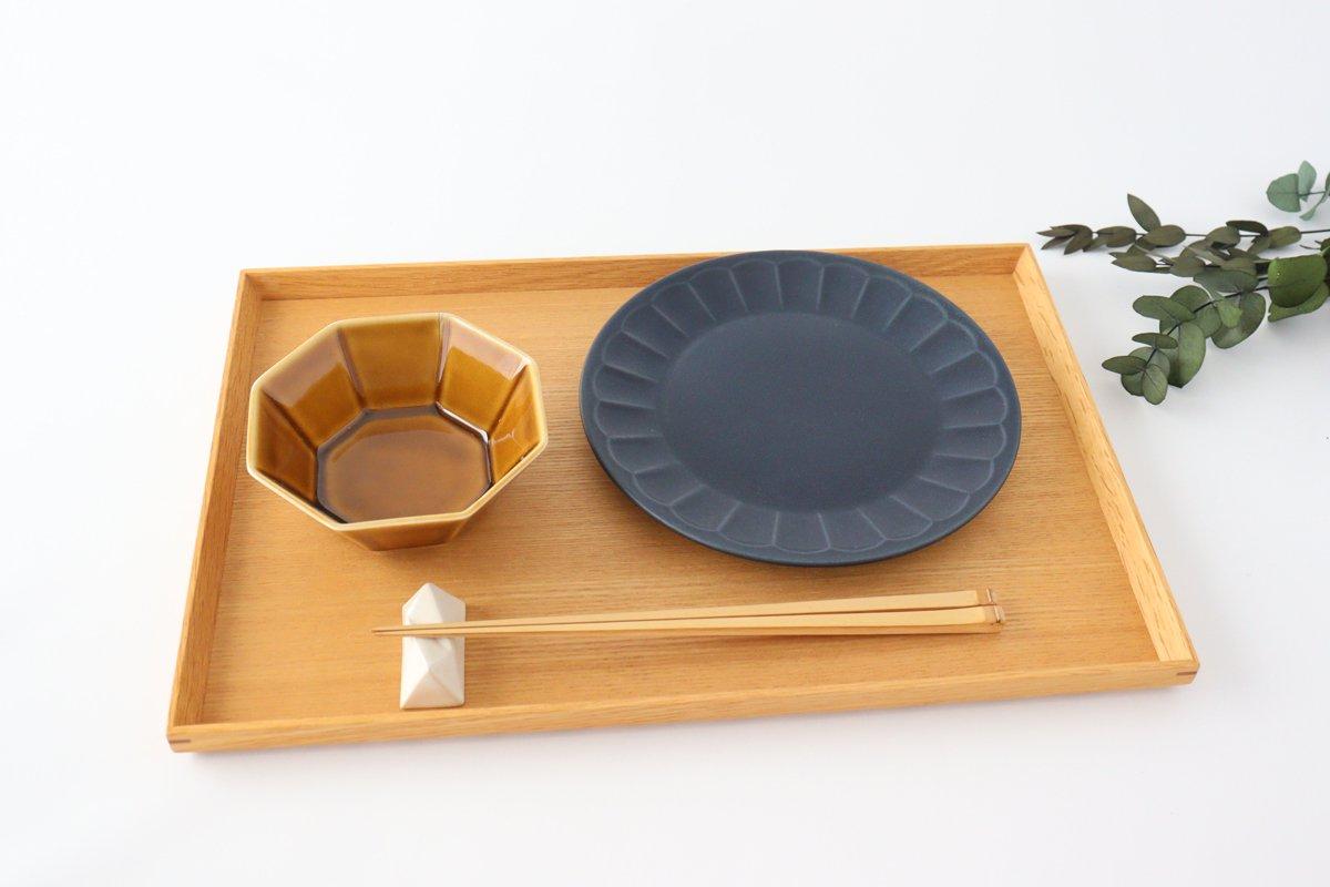 美濃焼 削ぎ目取皿 濃紺 陶器 画像5