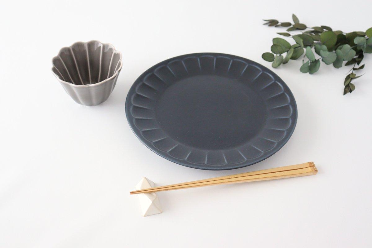 削ぎ目大皿 濃紺 陶器 美濃焼  画像2