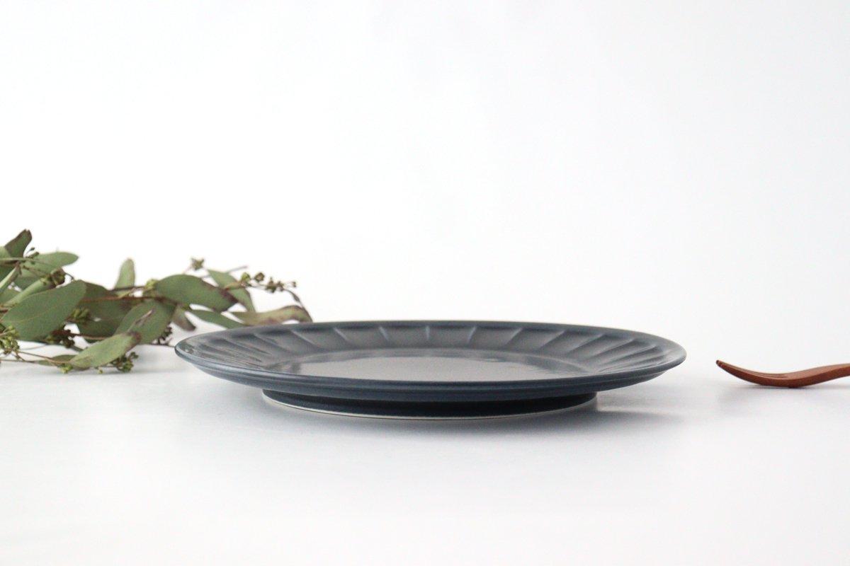 削ぎ目大皿 濃紺 陶器 美濃焼  画像3
