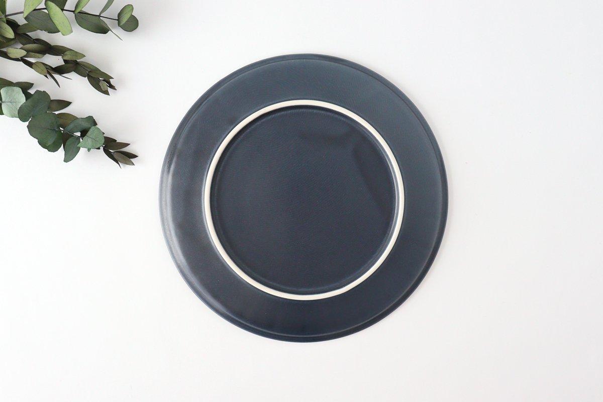 削ぎ目大皿 濃紺 陶器 美濃焼  画像4