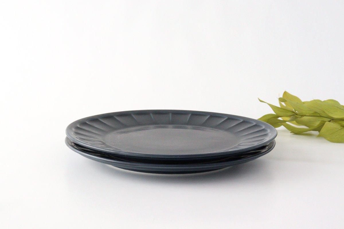 削ぎ目大皿 濃紺 陶器 美濃焼  画像5