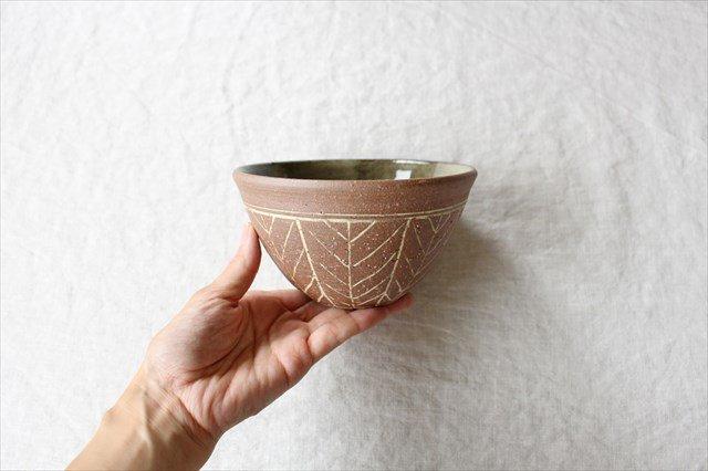 4.5寸ボウル 象嵌 陶器 工房コキュ やちむん 画像3