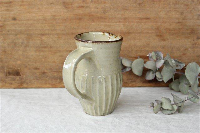ピッチャー しのぎ 陶器 工房コキュ やちむん 画像3