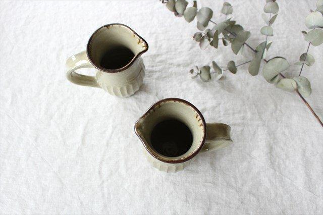 しのぎピッチャー 陶器 工房コキュ 画像4