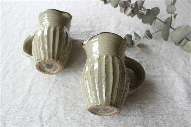 しのぎピッチャー 陶器 工房コキュ 画像6