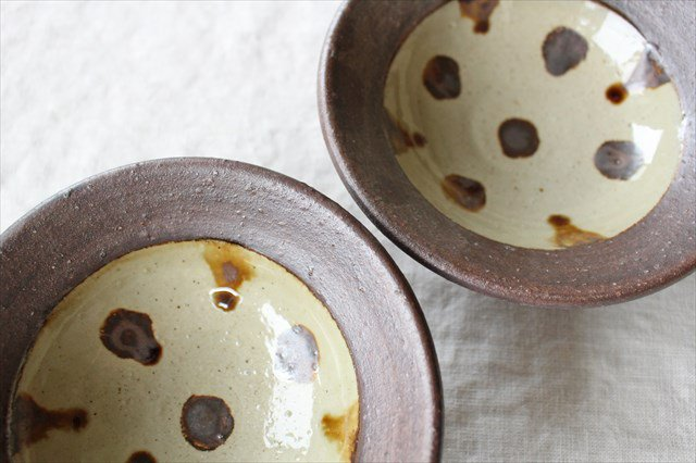 飴点打4.5寸鉢 陶器 工房コキュ 画像3