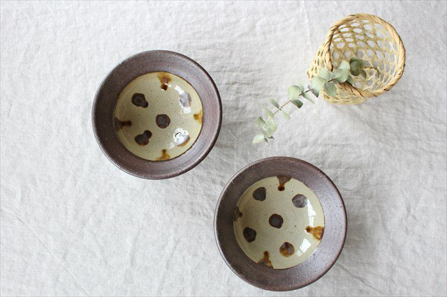 飴点打4.5寸鉢 陶器 工房コキュ 画像6