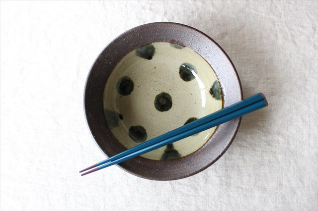 呉須点打6寸鉢 陶器 工房コキュ 画像4