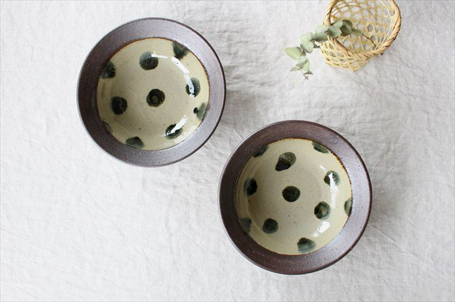 呉須点打6寸鉢 陶器 工房コキュ 画像6