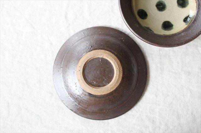 呉須点打5寸皿 陶器 工房コキュ 画像5