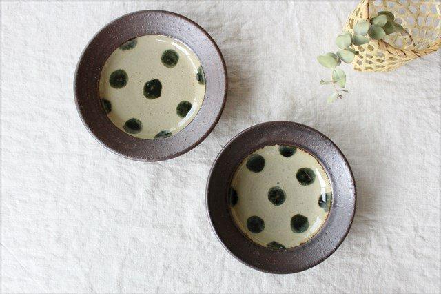 呉須点打5寸皿 陶器 工房コキュ 画像6