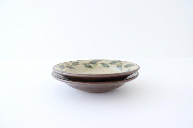 唐草5寸皿 陶器 工房コキュ 画像2