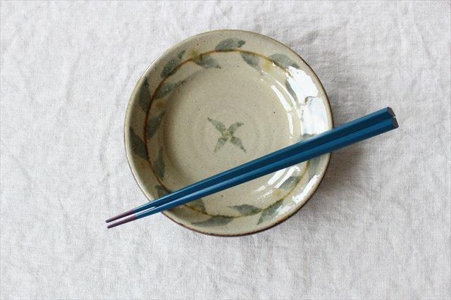 唐草5寸皿 陶器 工房コキュ 画像3